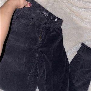 Black Velvet Capri Skinny Jeans by Lucky Brand